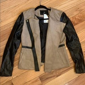 Faux suede/leather H&M jacket